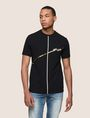 ARMANI EXCHANGE MINIMAL FOIL LINES TEE Logo T-shirt Man f