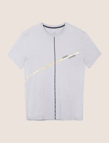 ARMANI EXCHANGE MINIMAL FOIL LINES TEE Logo T-shirt Man r