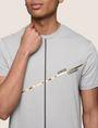 ARMANI EXCHANGE MINIMAL FOIL LINES TEE Logo T-shirt Man b