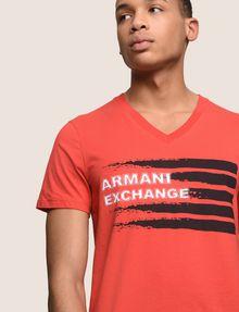 ARMANI EXCHANGE PAINTED LINES LOGO TEE Logo T-shirt Man b
