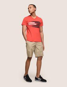 ARMANI EXCHANGE PAINTED LINES LOGO TEE Logo T-shirt Man d