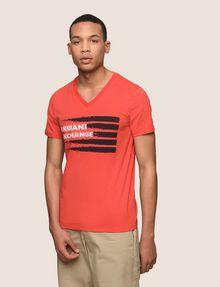 ARMANI EXCHANGE PAINTED LINES LOGO TEE Logo T-shirt Man f