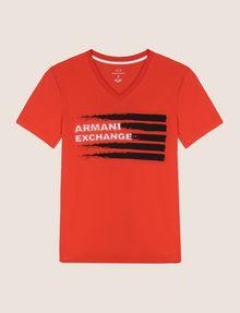 ARMANI EXCHANGE PAINTED LINES LOGO TEE Logo T-shirt Man r