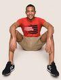 ARMANI EXCHANGE PAINTED LINES LOGO TEE Logo T-shirt Man a