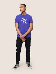 ARMANI EXCHANGE FRAGMENTED TYPEWRITER LOGO TEE Logo T-shirt Man d