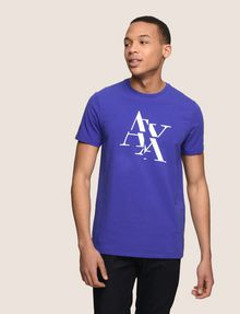 ARMANI EXCHANGE FRAGMENTED TYPEWRITER LOGO TEE Logo T-shirt Man f