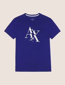 ARMANI EXCHANGE FRAGMENTED TYPEWRITER LOGO TEE Logo T-shirt Man r