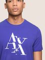 ARMANI EXCHANGE FRAGMENTED TYPEWRITER LOGO TEE Logo T-shirt Man b