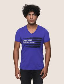 ARMANI EXCHANGE PAINTED LINES LOGO TEE Logo T-shirt Man f