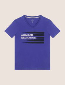 ARMANI EXCHANGE PAINTED LINES LOGO TEE Logo T-shirt Man r