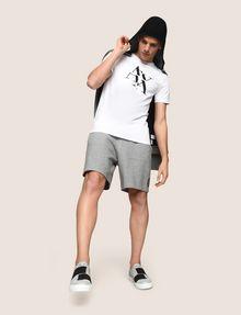 ARMANI EXCHANGE FRAGMENTED TYPEWRITER LOGO TEE Logo T-shirt Man a