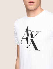 ARMANI EXCHANGE FRAGMENTED TYPEWRITER LOGO TEE Logo T-shirt Man b
