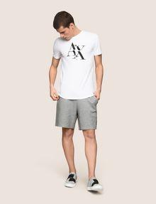 ARMANI EXCHANGE FRAGMENTED TYPEWRITER LOGO TEE Logo T-shirt Man d