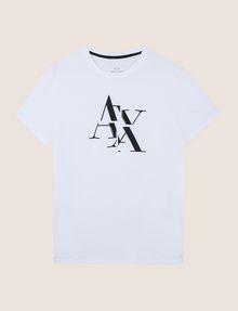 ARMANI EXCHANGE FRAGMENTED TYPEWRITER LOGO TEE Logo T-shirt Man r
