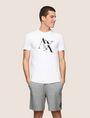 ARMANI EXCHANGE FRAGMENTED TYPEWRITER LOGO TEE Logo T-shirt Man f
