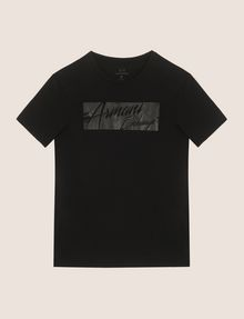 ARMANI EXCHANGE NEGATIVE SPACE PRINT TEE Logo T-shirt Man r