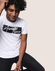 ARMANI EXCHANGE NEGATIVE SPACE PRINT TEE Logo T-shirt Man a