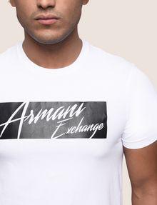 ARMANI EXCHANGE NEGATIVE SPACE PRINT TEE Logo T-shirt Man b