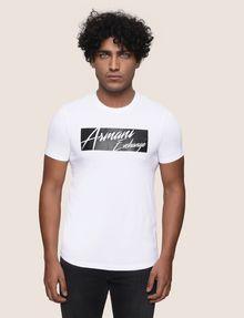 ARMANI EXCHANGE NEGATIVE SPACE PRINT TEE Logo T-shirt Man f