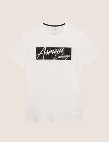 ARMANI EXCHANGE NEGATIVE SPACE PRINT TEE Logo T-shirt Man r