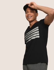 ARMANI EXCHANGE PAINTED LINES LOGO TEE Logo T-shirt Man a