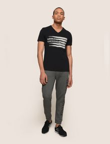 ARMANI EXCHANGE PAINTED LINES LOGO TEE Logo T-shirt Man d