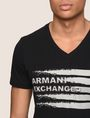 ARMANI EXCHANGE PAINTED LINES LOGO TEE Logo T-shirt Man b