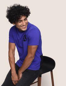 ARMANI EXCHANGE T-SHIRT MIT GLÄNZENDEM COLORBLOCK-SAUM Logo-T-Shirt [*** pickupInStoreShippingNotGuaranteed_info ***] a
