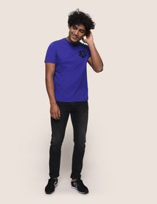 ARMANI EXCHANGE T-SHIRT MIT GLÄNZENDEM COLORBLOCK-SAUM Logo-T-Shirt [*** pickupInStoreShippingNotGuaranteed_info ***] d