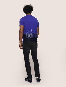 ARMANI EXCHANGE T-SHIRT MIT GLÄNZENDEM COLORBLOCK-SAUM Logo-T-Shirt [*** pickupInStoreShippingNotGuaranteed_info ***] e