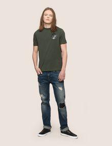 ARMANI EXCHANGE SHINE COLORBLOCK HEM TEE Logo T-shirt Man d