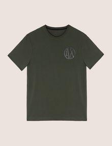 ARMANI EXCHANGE SHINE COLORBLOCK HEM TEE Logo T-shirt Man r