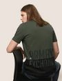 ARMANI EXCHANGE SHINE COLORBLOCK HEM TEE Logo T-shirt Man a