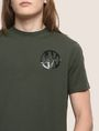 ARMANI EXCHANGE SHINE COLORBLOCK HEM TEE Logo T-shirt Man b