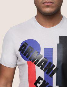 ARMANI EXCHANGE MOD MIX COLORBLOCK TEE Logo T-shirt Man b