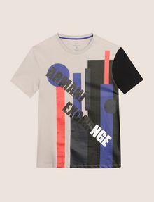 ARMANI EXCHANGE MOD MIX COLORBLOCK TEE Logo T-shirt Man r