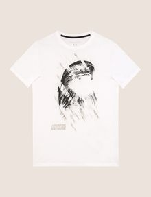 ARMANI EXCHANGE T-SHIRT MIT ADLERPRINT UND QUERSTREIFEN Logo-T-Shirt Herren r