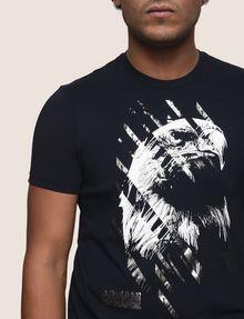 ARMANI EXCHANGE DIAGONAL STRIPE EAGLE TEE Logo T-shirt Man b