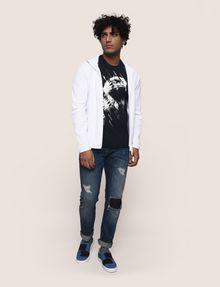 ARMANI EXCHANGE DIAGONAL STRIPE EAGLE TEE Logo T-shirt Man d