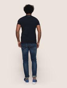 ARMANI EXCHANGE DIAGONAL STRIPE EAGLE TEE Logo T-shirt Man e