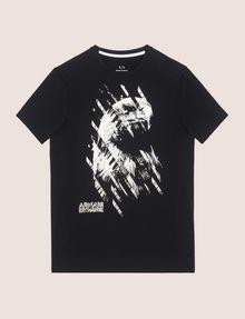 ARMANI EXCHANGE DIAGONAL STRIPE EAGLE TEE Logo T-shirt Man r