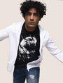 ARMANI EXCHANGE DIAGONAL STRIPE EAGLE TEE Logo T-shirt Man a