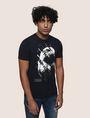 ARMANI EXCHANGE DIAGONAL STRIPE EAGLE TEE Logo T-shirt Man f