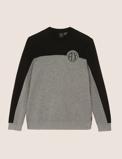 COLORBLOCK CIRCLE LOGO SWEATER