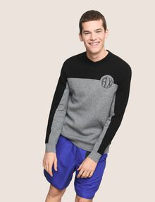 ARMANI EXCHANGE COLORBLOCK CIRCLE LOGO SWEATER Pullover Man a