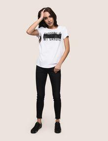 ARMANI EXCHANGE SHOPPING IS MY CARDIO TEE Logo T-shirt Woman d