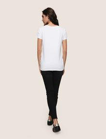 ARMANI EXCHANGE SHOPPING IS MY CARDIO TEE Logo T-shirt Woman e