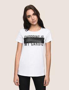 ARMANI EXCHANGE SHOPPING IS MY CARDIO TEE Logo T-shirt Woman f