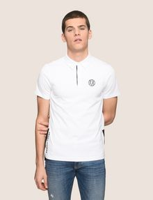 ARMANI EXCHANGE CIRCLE LOGO COLORBLOCK POLO SHORT SLEEVES POLO Man f