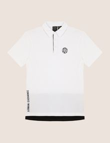 ARMANI EXCHANGE CIRCLE LOGO COLORBLOCK POLO SHORT SLEEVES POLO Man r